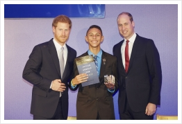 The Only American to Receive Prestigious Award From The Royal Highnesses Prince William and Prince Harry Back In England